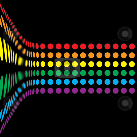 Rainbow Circles Layout stock photo, A rainbow colored abstract design template. by Todd Arena