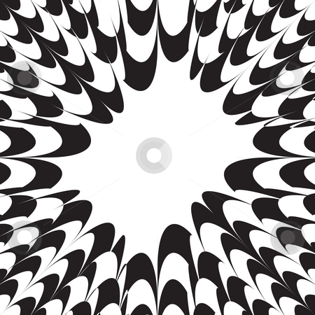 Spikey Burst Layout stock photo, A black and white layout with plenty of copy space. by Todd Arena