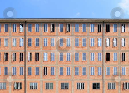 Windows stock photo, Facade of an old office building with many windows by Matteo Malavasi