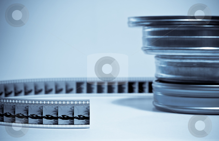 Film-roll stock photo, Film-roll and three cans by Hugo Lopes