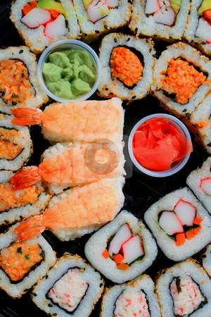 Sushi Assortment stock photo,  by Michael Felix