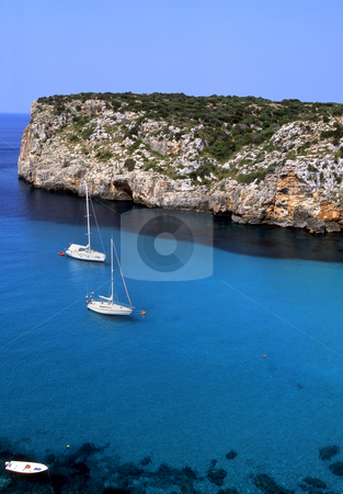Sail away stock photo, Sail boats just off the coast of Paleokastrita on the Greek island of Corfu. by Paul Phillips