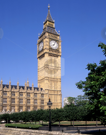 Big Ben London stock photo, Big Ben is the nickname for the great bell of the clock at the north-eastern end of the Palace of Westminster in London by Paul Phillips