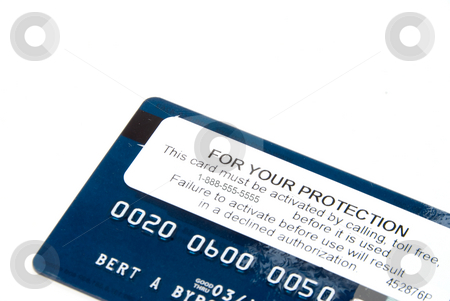 Credit Card Activation stock photo, A brand new credit card with an ativation sticker. by Robert Byron