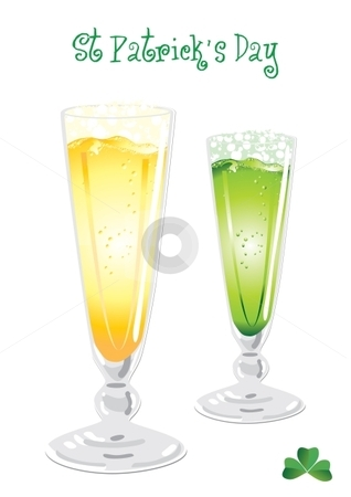 Green beer stock vector clipart, Isolated green and light beer for Saint Patricks holiday, vector illustration by Milsi Art