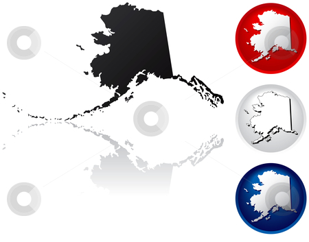 State of Alaska Icons stock vector clipart, Alaska Icons by Adrian Sawvel
