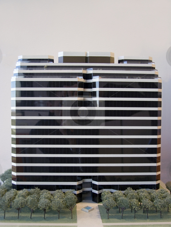 Building Model stock photo, A model of a modern office building by Kevin Tietz