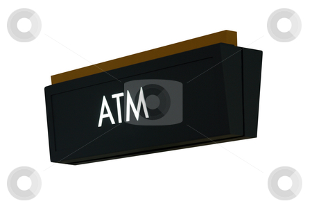 ATM Sign stock photo, A isolation of a nice ATM sign by Kevin Tietz