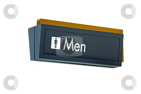 Mens Restroom Sign stock photo, A isolation of a nice mens restroom sign by Kevin Tietz