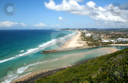 Southern Gold Coast stock photo, View of the Southern Gold Coast from Burleigh Hill in Australia. by Brett Mulcahy