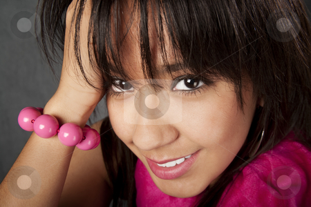 Pretty Young Woman stock photo, Closeup of pretty young mixed race woman by Scott Griessel