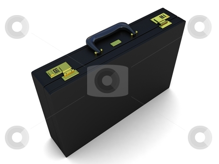 Office briefcase stock photo, Three dimensional isolated office briefcase by Imagery Majestic
