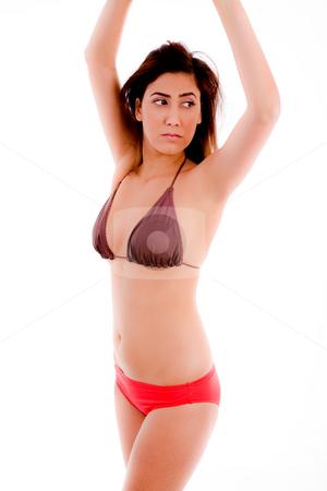 Side View Of Sexy Model In Bikini