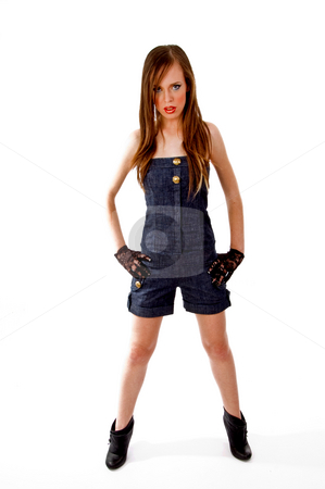 Front view of standing young model stock photo, Front view of standing young model on an isolated background by Imagery Majestic