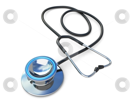Spiral stethoscope stock photo, 3d spiral stethoscope with an isolated background by Imagery Majestic