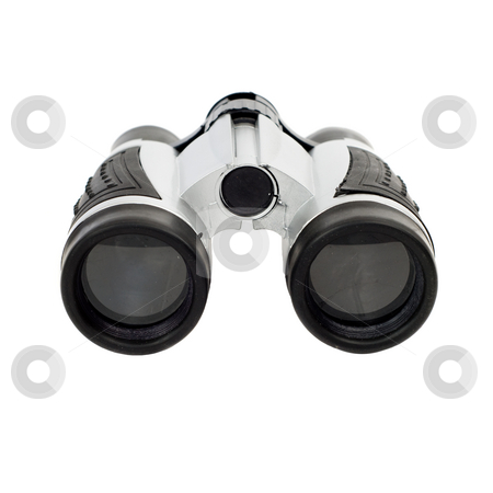 Isolated Binoculars stock photo, A plastic pair of binoculars, isolated against a white background by Richard Nelson