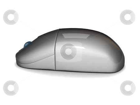 Electronic mouse stock photo, Three dimensional electronic mouse against white background by Imagery Majestic