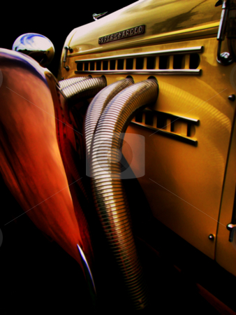 Supercharged stock photo, Vintage classic car by R Deron