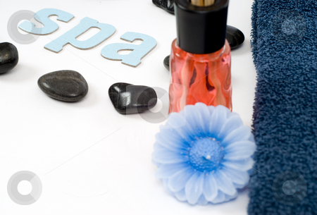 Spa Concept stock photo, Spa concept with various spa objects shot against a white background by Richard Nelson