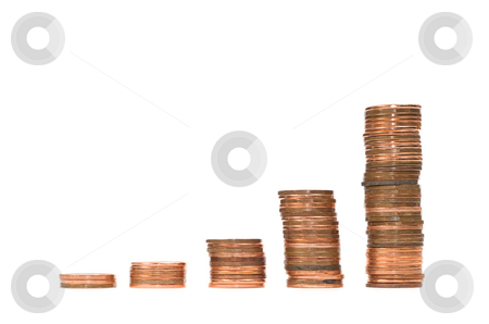 Interest Concept stock photo, Concept image of someone's saving account with the interest increasing their money, isolated against a white background by Richard Nelson