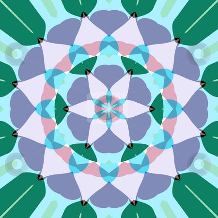 Lotus flower mandala stock photo, Abstract mandala like pastel colored symmetric lotus flower shape by Wino Evertz