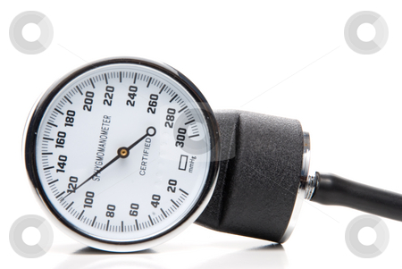 Sphygmomanometer stock photo, A professional blood pressure tool known as a Sphygmomanometer. by Robert Byron