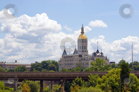 Hartford Capital Building stock photo, The golden-domed capitol building in Hartford Connecticut. by Todd Arena