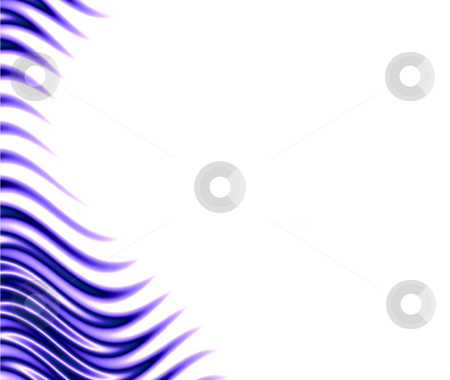 Blue flames stock photo, Blue flames border isolated over white by Todd Arena