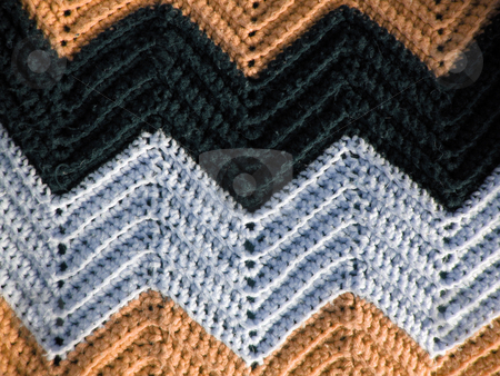 Afghan Pattern stock photo, A great pattern of a knitted afghan - just like your grandmother makes. by Todd Arena