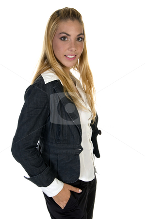 Standing young female stock photo, Standing young female on an isolated background by Imagery Majestic