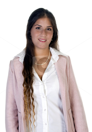 Modern businesswoman stock photo, Modern businesswoman with white background by Imagery Majestic