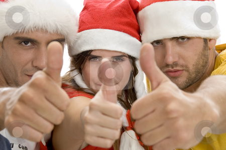 Young people showing thumb stock photo, Young people showing thumb with white background by Imagery Majestic
