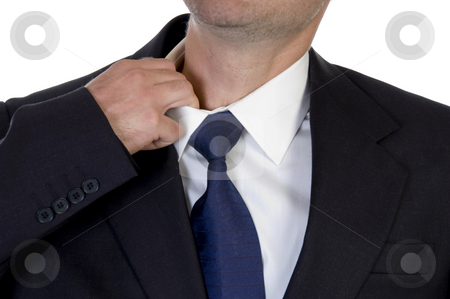 Man itching his neck with hand stock photo, Man itching his neck with hand on an isolated background by Imagery Majestic