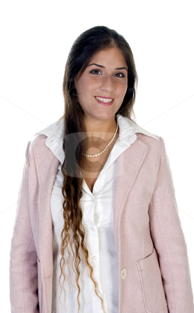 Smiling businesswoman stock photo, Smiling businesswoman isolated with white background by Imagery Majestic