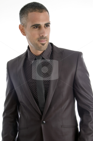 Handsome young businessman stock photo, Handsome young businessman with white background by Imagery Majestic