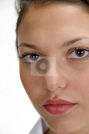 Close up of medical professional's face stock photo, Close up of medical professional's face by Imagery Majestic