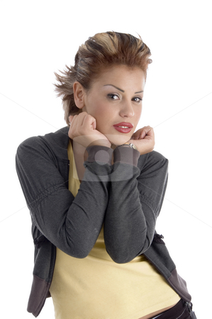Posing attractive model stock photo, Posing attractive model on an isolated background by Imagery Majestic