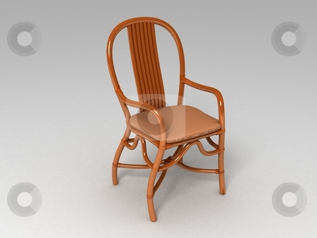 Wooden chair stock photo, Wooden chair on white background by Imagery Majestic
