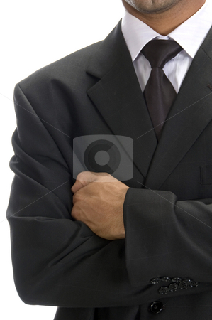 Front view of well dressed businessman stock photo, Front view of well dressed businessman with arms crossed by Imagery Majestic