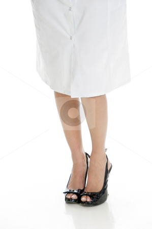 Legs of doctor stock photo, Legs of doctor with white background by Imagery Majestic