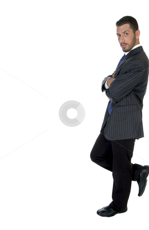 Stylish pose of american businessperson stock photo, Stylish pose of american businessperson on an isolated white background by Imagery Majestic