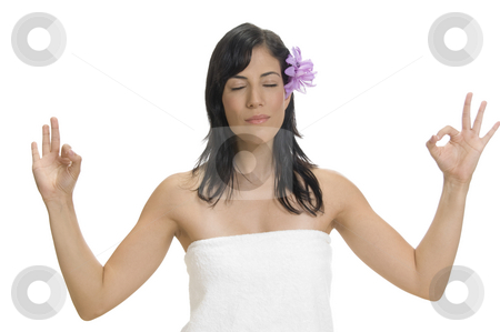 Woman showing ok sign stock photo, Woman showing ok sign by Imagery Majestic