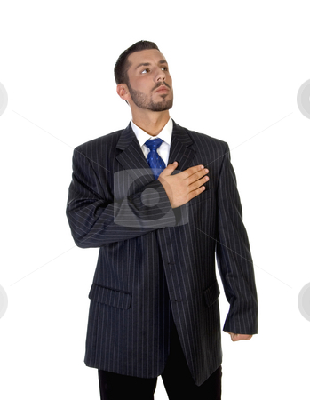 Stylish pose of successful man stock photo, Stylish pose of successful man on an isolated background by Imagery Majestic