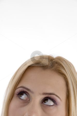 Close up beautiful eyes of woman stock photo, Close up beautiful eyes of woman on an isolated white background by Imagery Majestic
