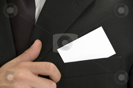Businessman with his visiting card stock photo, Businessman with his visiting card, close up view by Imagery Majestic