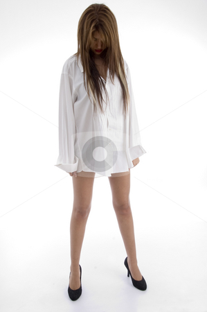 Sexy gorgeous female stock photo, Sexy gorgeous female with white background by Imagery Majestic
