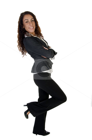 Standing sexy female stock photo, Standing sexy female on an isolated background by Imagery Majestic