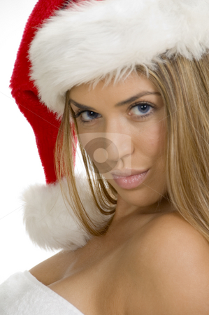 Sexy young woman posing with santa cap stock photo, Sexy young woman posing with santa cap by Imagery Majestic