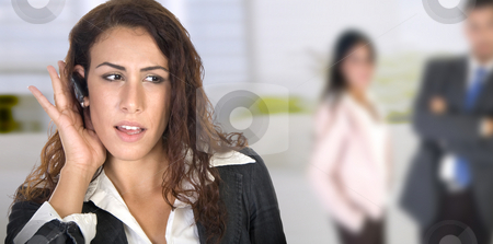Young businesswoman stock photo, Young businesswoman with people in the background by Imagery Majestic