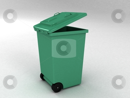 Trash can stock photo, Trash can on white background by Imagery Majestic